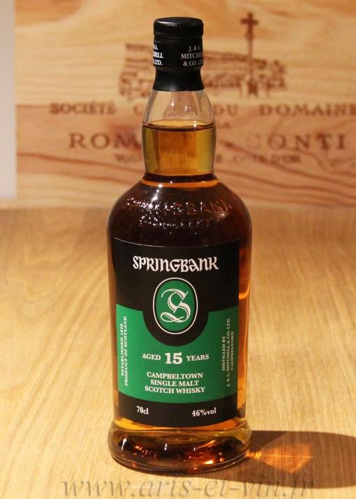 Bouteille Whisky Single Malt Spring Bank 15 ans Campbeltown