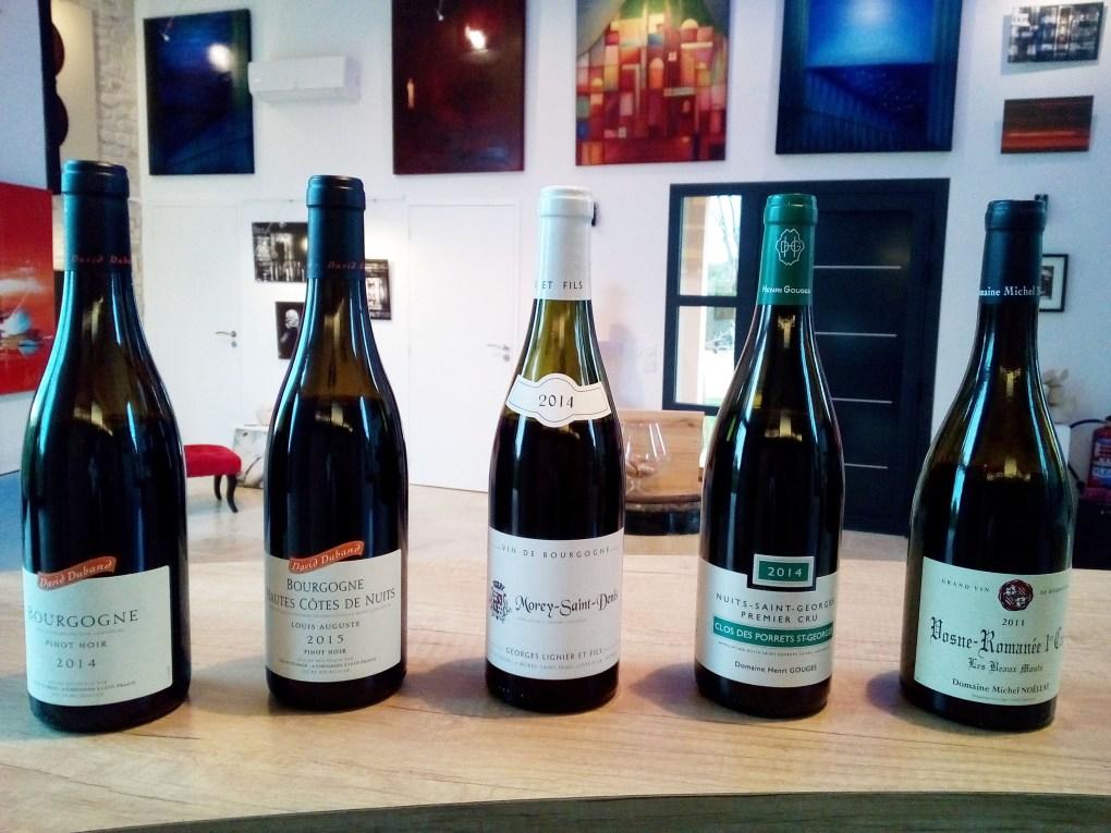 Ateliers œnologiques Bouteilles de Vin Bourgogne