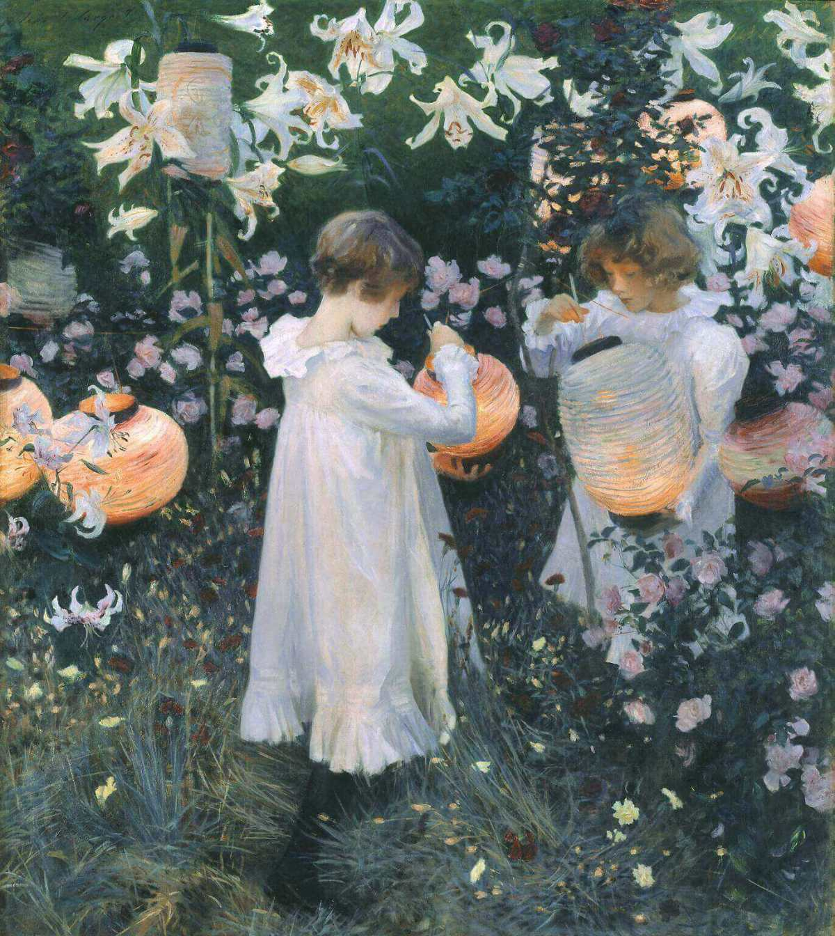 John Sargent. Carnation, Lily, Lily, Rose. 1885-1886