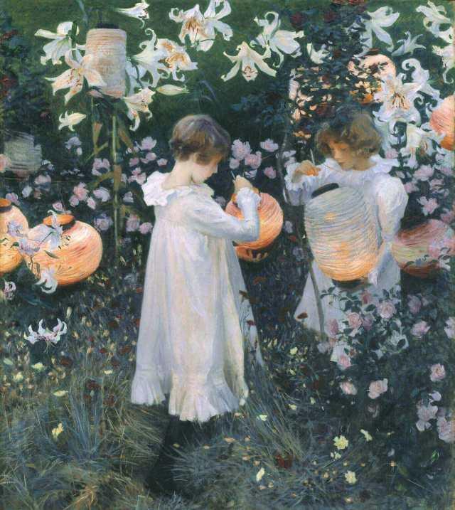 John Sargent. Carnation, Lily, Lily, Rose. 1885-1886