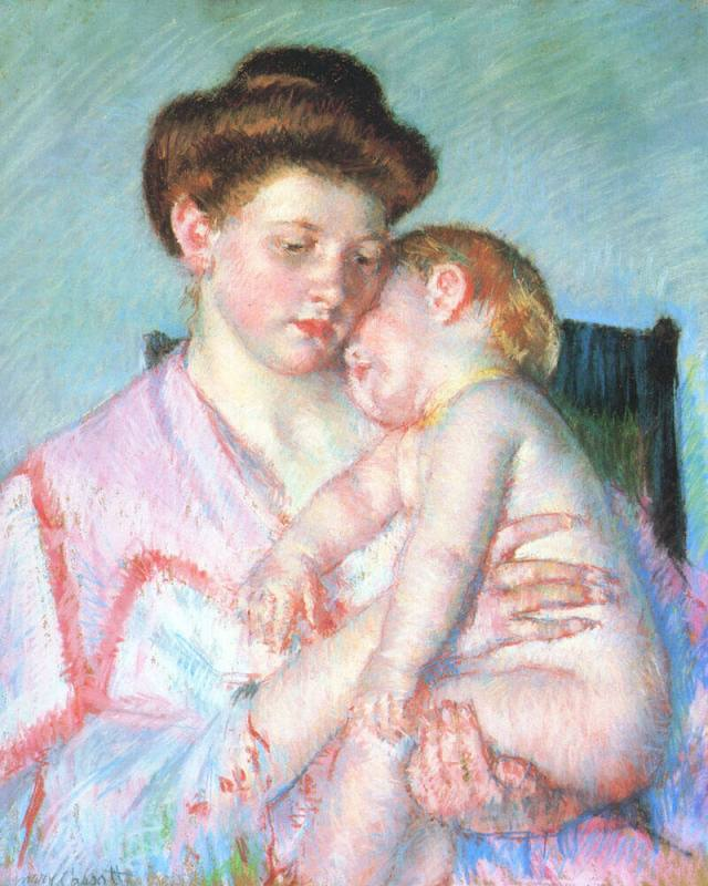 Mary Cassatt. Sleepy Baby. 1910.