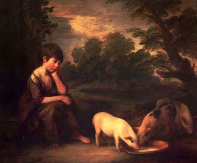 Thomas Gainsborough. Girl with pigs. 1782.