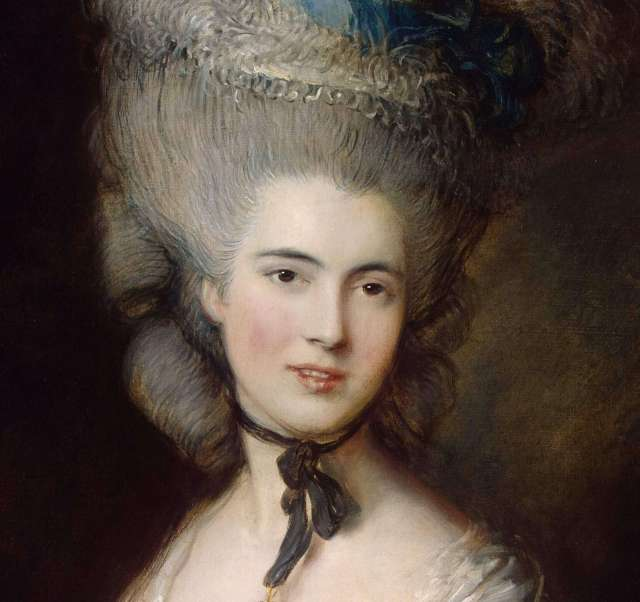 Thomas Gainsborough. Portrait of a Lady in Blue (detail). 1778-1782