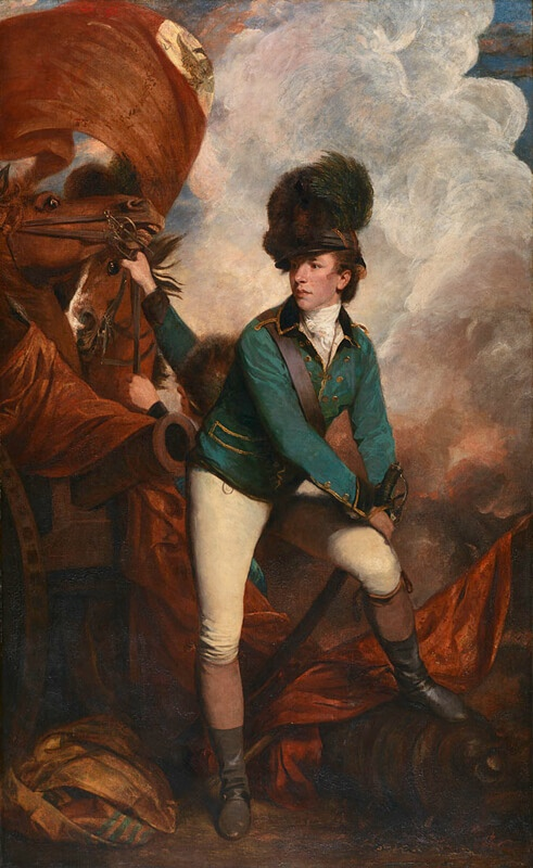 Joshua Reynolds. Portrait of Colonel Banastre Tarleton. 1782.
