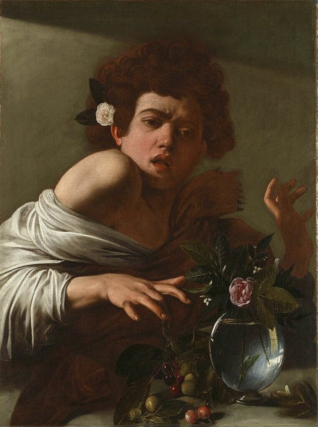 Boy Bitten by a lizard Caravaggio