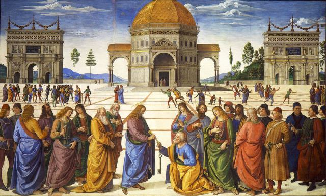 Perugino. Christ Giving the Keys to St. Peter