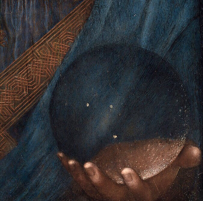 "Leonardo Detail of ""The Savior of the World"" (the glass sphere)"