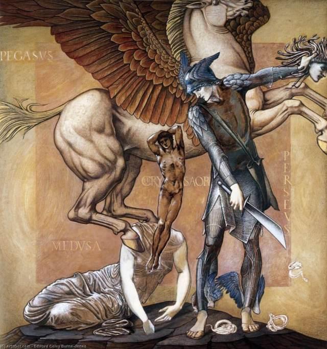 Burne-Jones. The Birth of Pegasus and Chrysaor