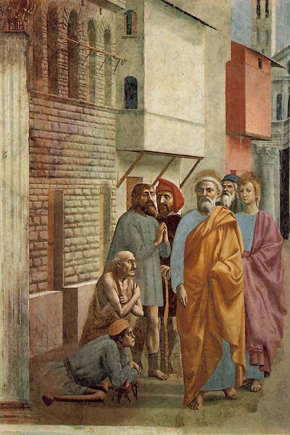 Masaccio. Saint Peter Healing the Sick with his shadow
