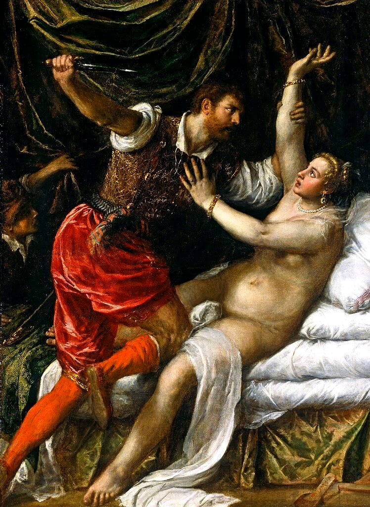 Titian. Tarquin and Lucretia