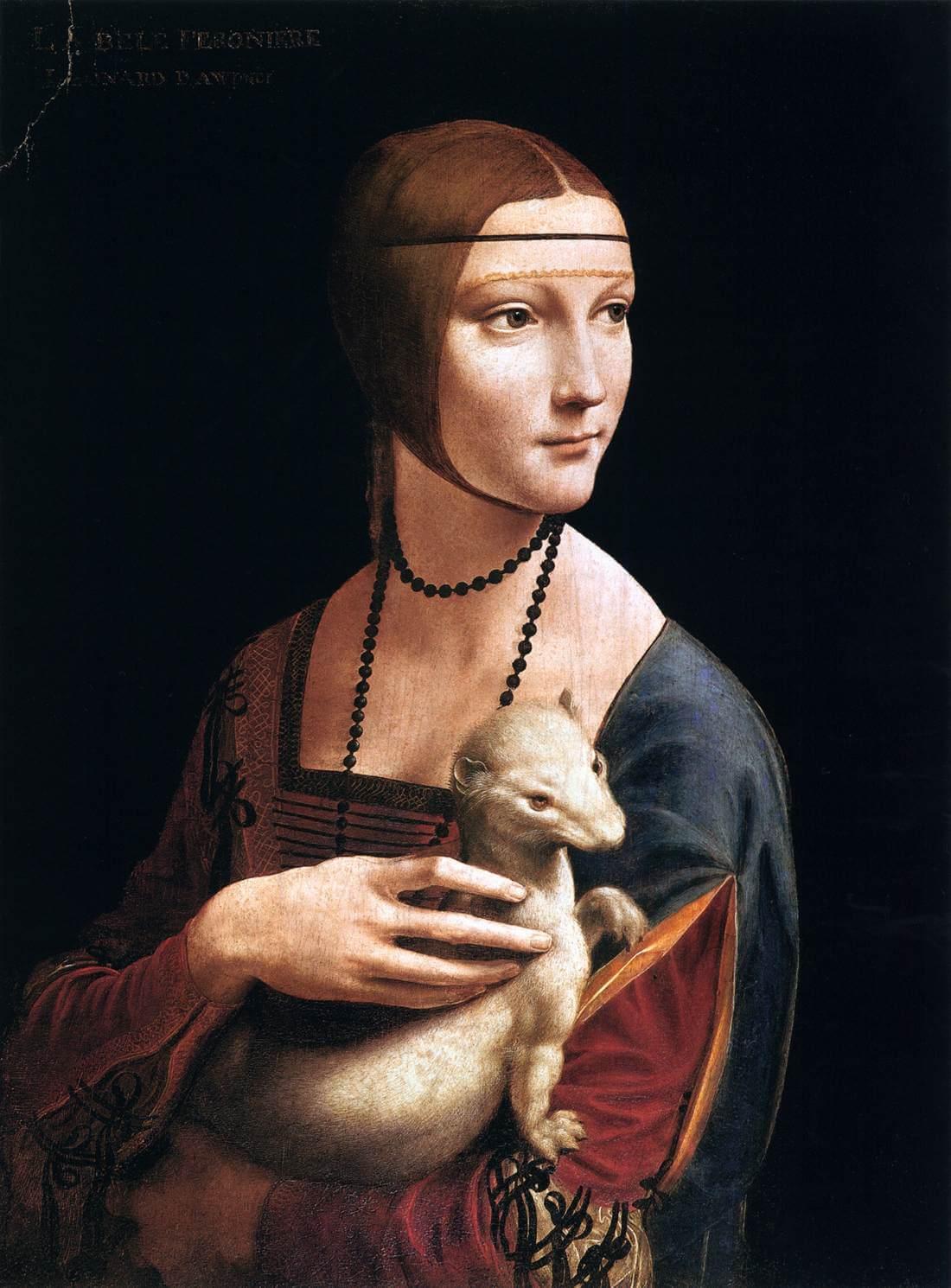 Leonardo da Vinci. Lady with an ermine