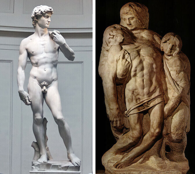 Sculptures by Michelangelo