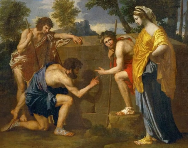 Nicolas Poussin. The Shepherds of Arcadia (a fragment).