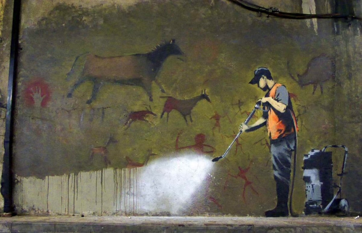 Banksy. Wall Washing.