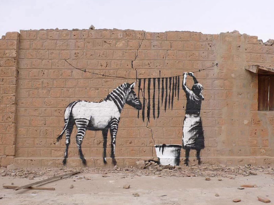 Banksy. Zebra Stripes Washing