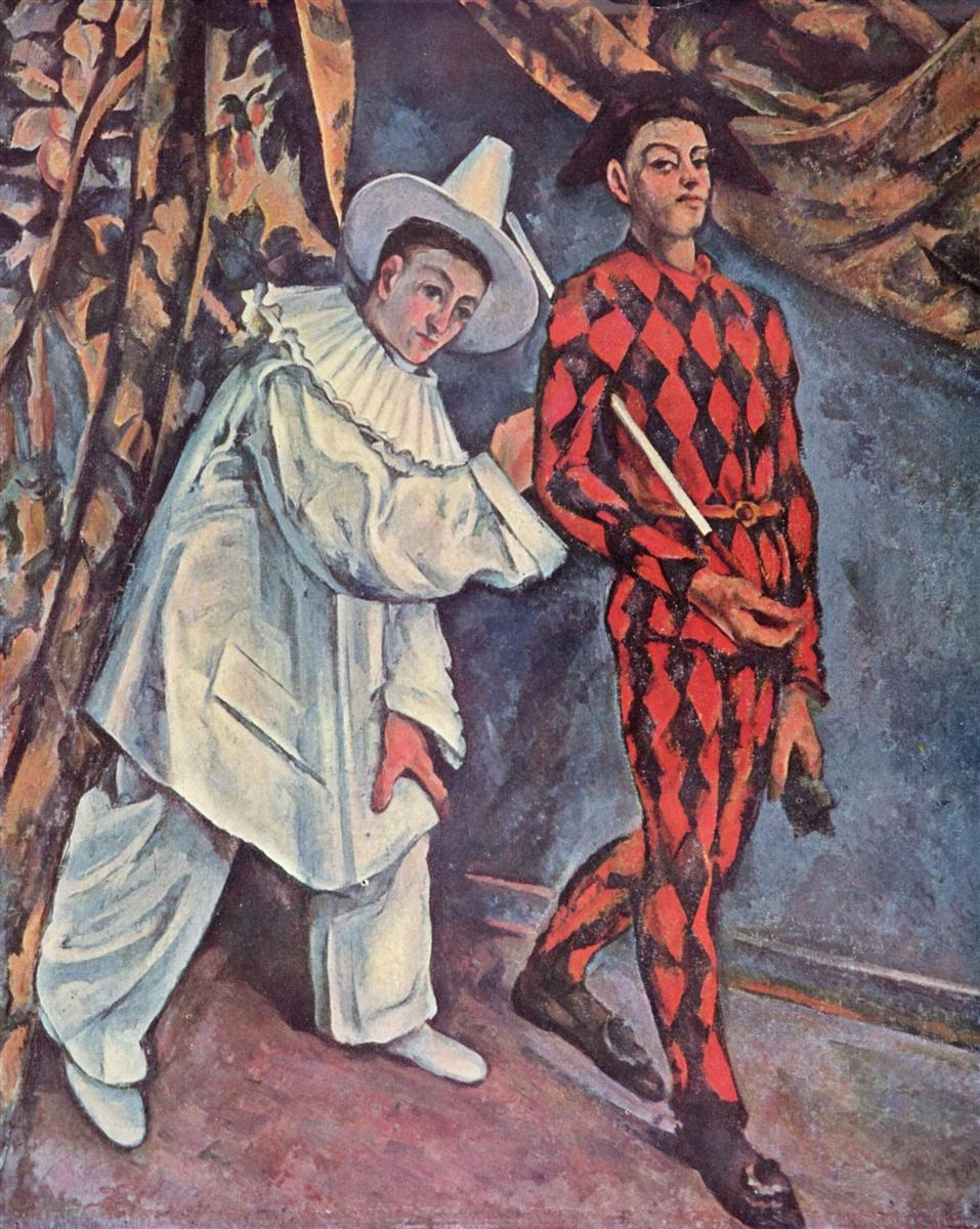 Cezanne. Pierrot and Harlequin