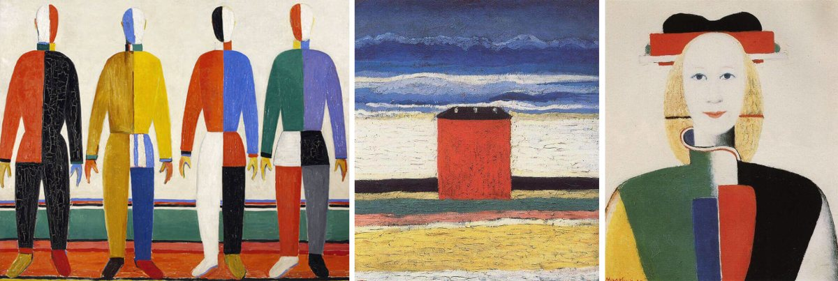 Malevich's artworks