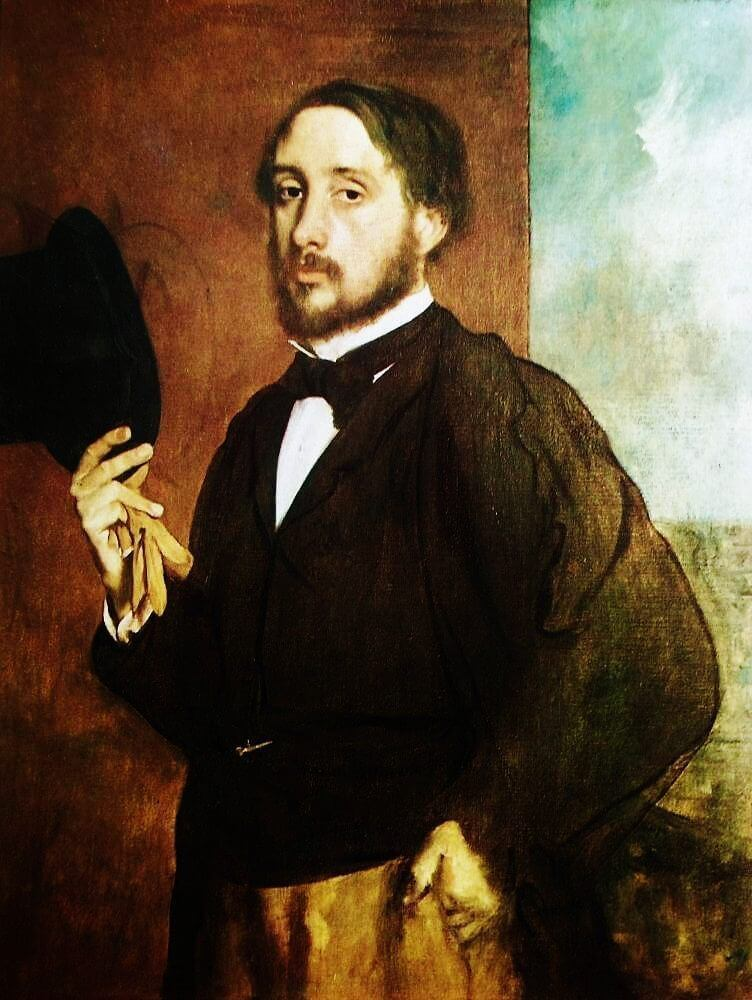 Degas self portrait 1863