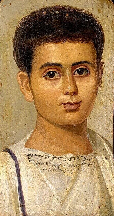 Fayum portrait of a boy Eutyches