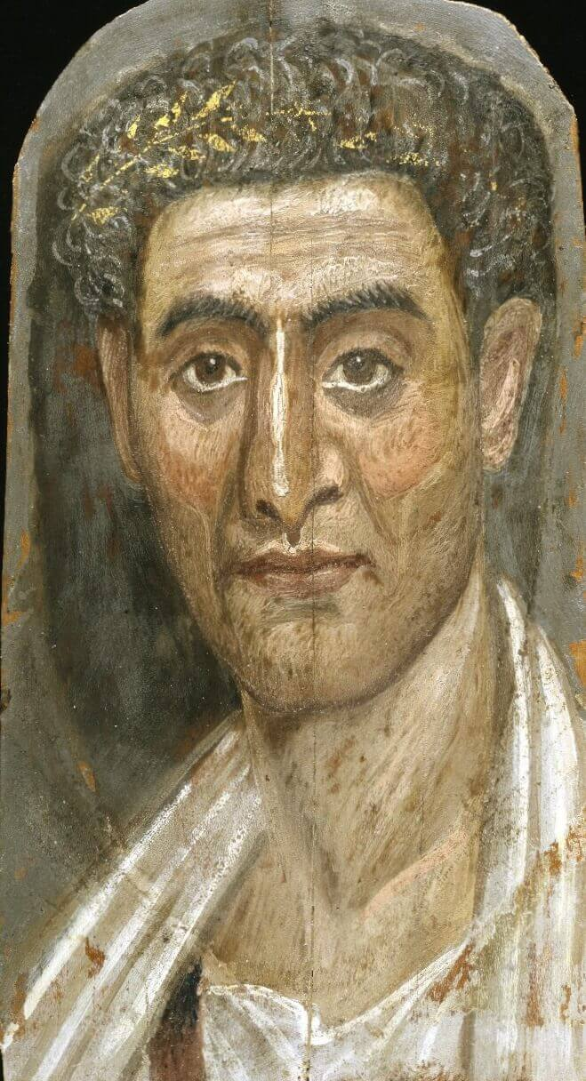 Fayum portrait of a man. Brooklyn Museum