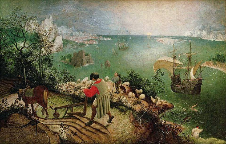 Brueghel. The Fall of Icarus.