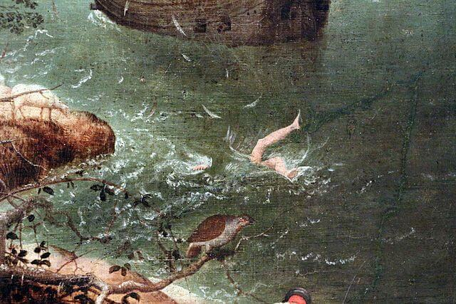 Brueghel. The Fall of Icarus (fragment).