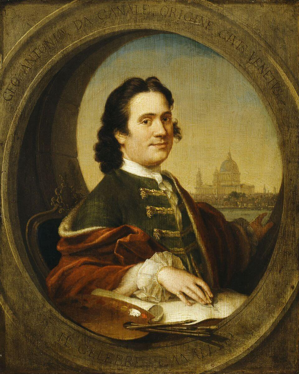 Canaletto. Self-portrait. XVIII century. Private collection.