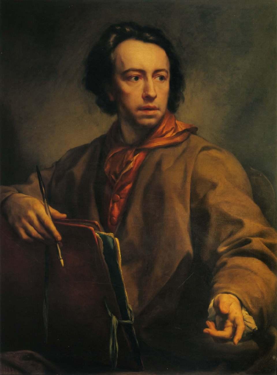 Anton Rafael Mengs. Self portrait.