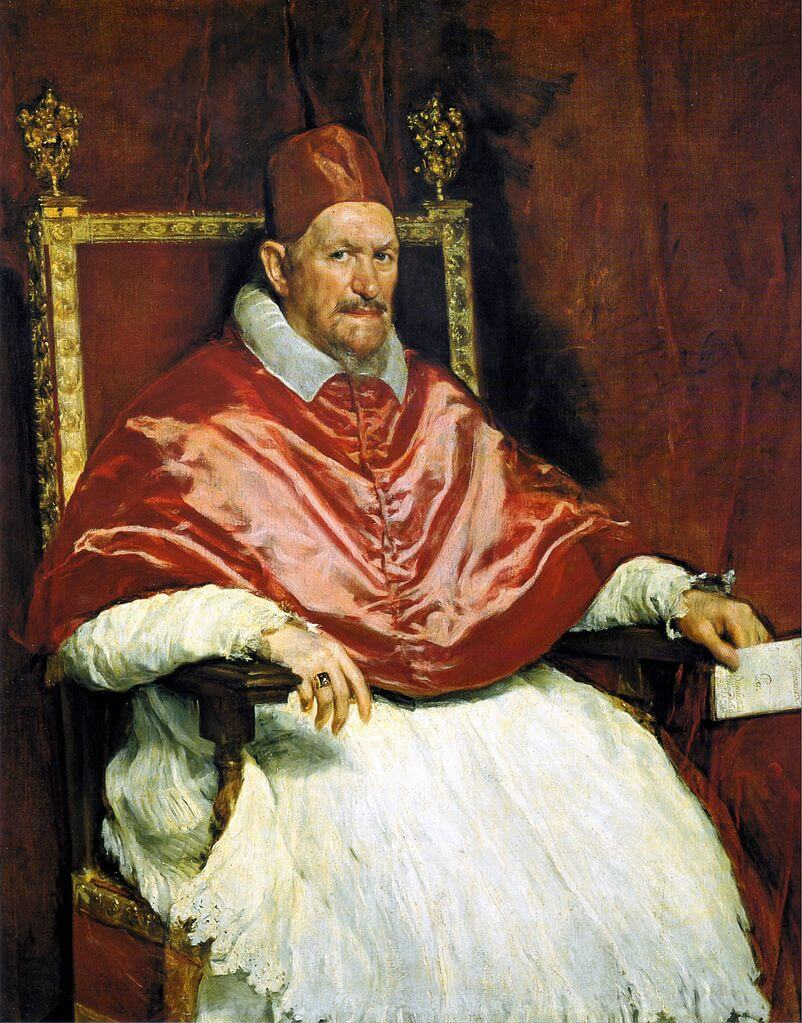 Diego Velazquez. Portrait of Pope Innocent X.
