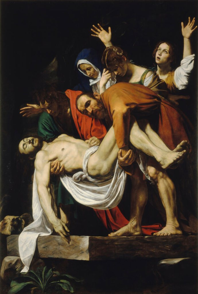 Caravaggio. Entombment of Christ.