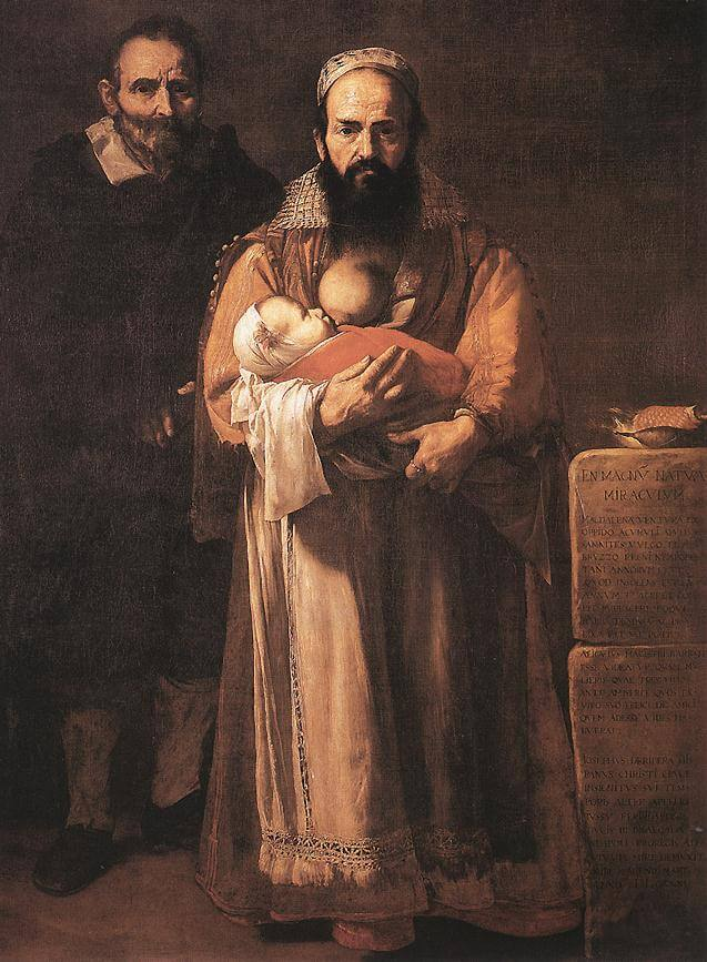 Jose de Ribera. Magdalena Ventura with Husband and Son (Bearded Woman).