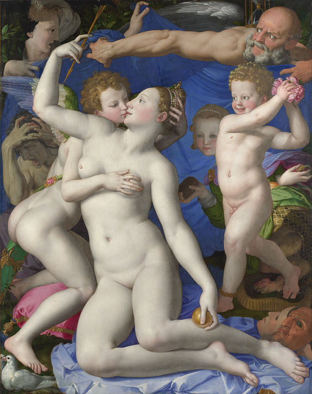 Agnolo Bronzino. Allegory with Venus and Cupid.