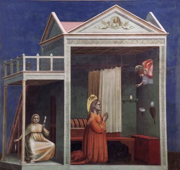 Giotto. Annunciation to Saint Anne. 1303-1305.