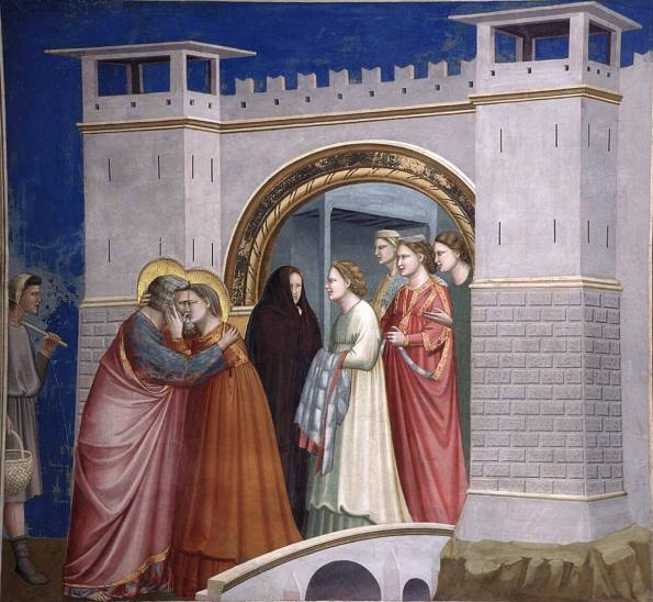 Giotto. Meeting at the Golden Gate. 1303-1305.