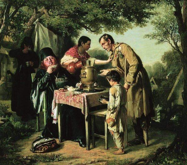 Vasily Perov. The Tea-party in Mytishchi.