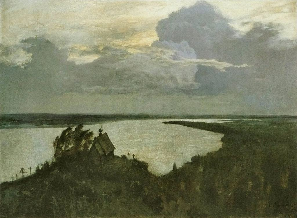 "Isaak Levitan. Sketch to painting ""Above The Eternal Peace""."