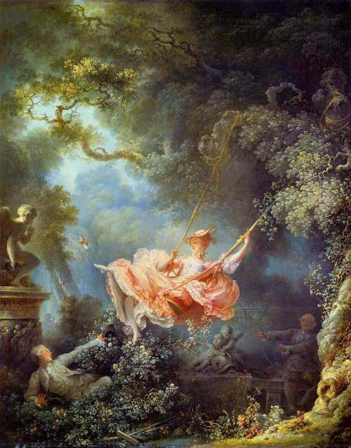 Jean-Honore Fragonard. The Swing.
