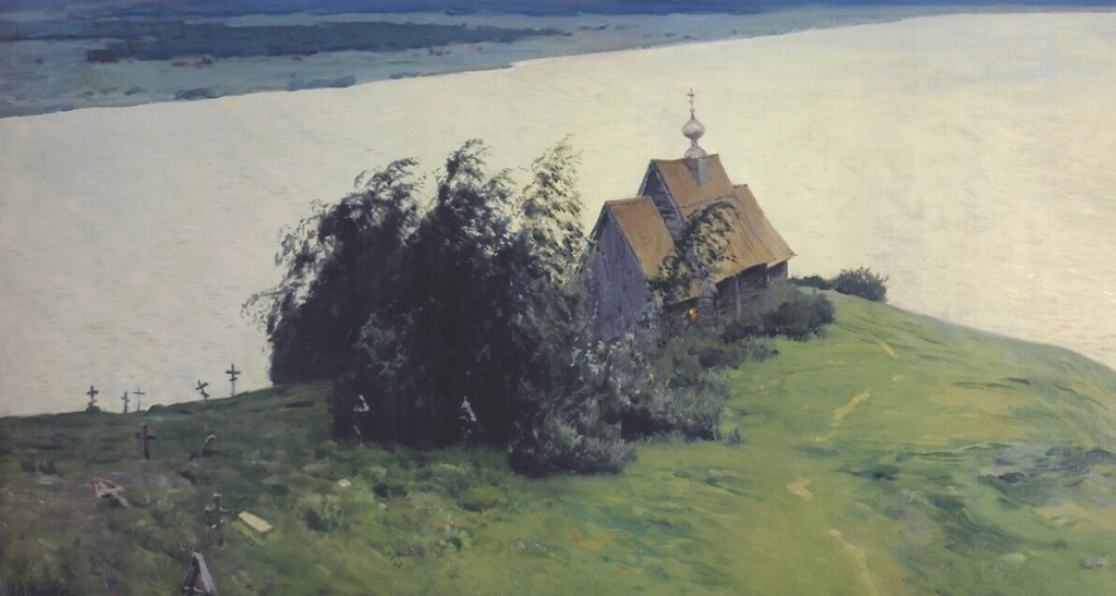 Isaak Levitan. Above The Eternal Peace (fragment).