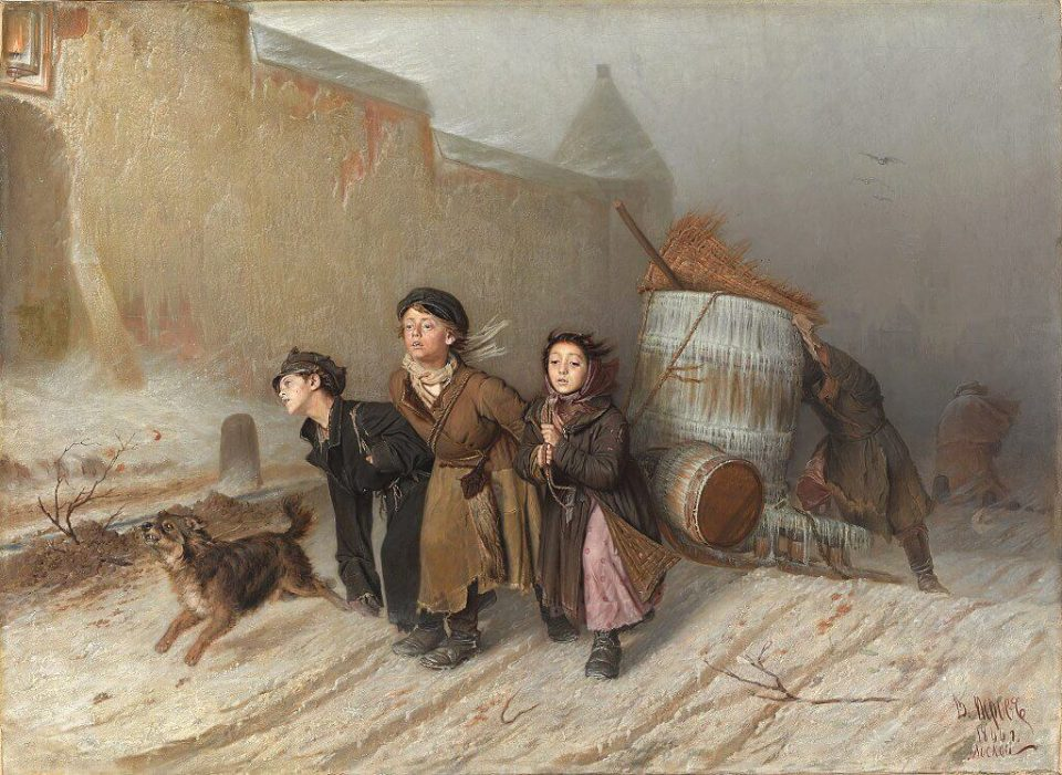 Ivan Perov. Troika. Apprentices fetch water.
