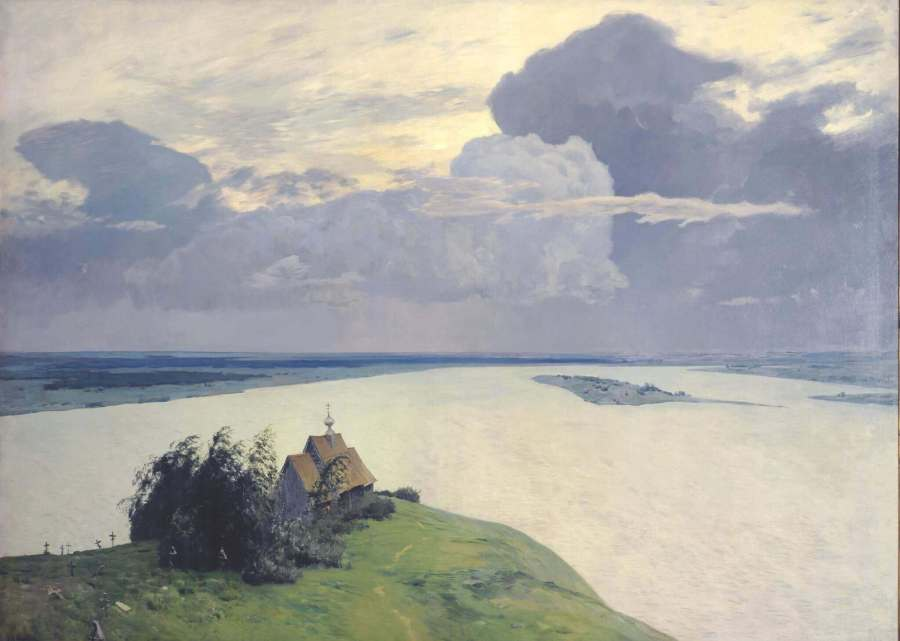 Isaak Levitan. Above The Eternal Peace. 152 x 207.5 cm.