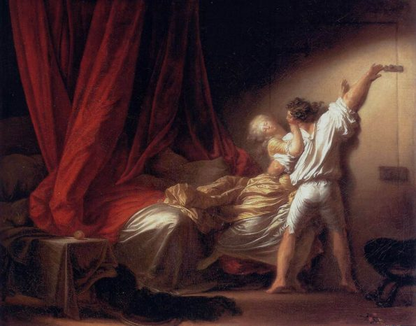 Jean-Honore Fragonard. The Bolt.