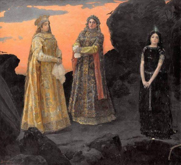Viktor Vasnetsov. Three Princesses of the Underworld.
