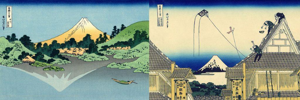 "Hokusai. Prints from the series ""Thirty-six types Mount Fuji """