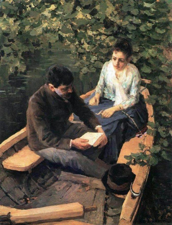 Konstantin Korovin. In the boat.
