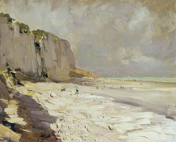Konstantin Korovin. Seashore at Dieppe.