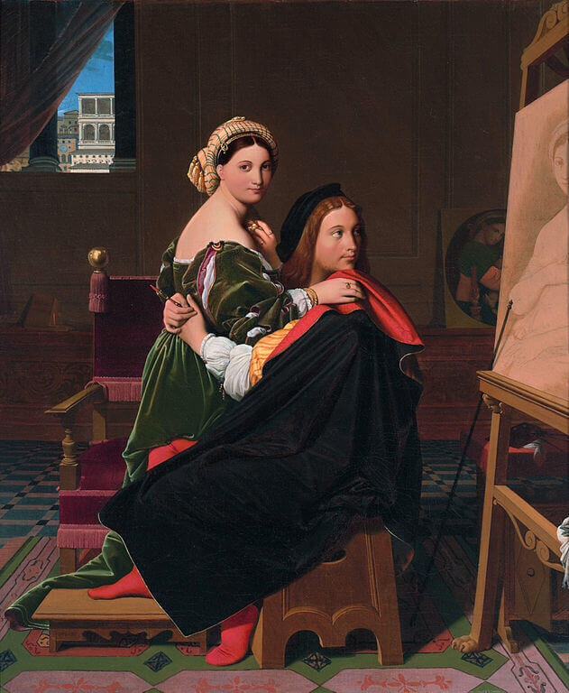 Ingres. Raphael and Fornarina.