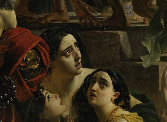 Karl Bryullov. The last day of Pompeii. Detail