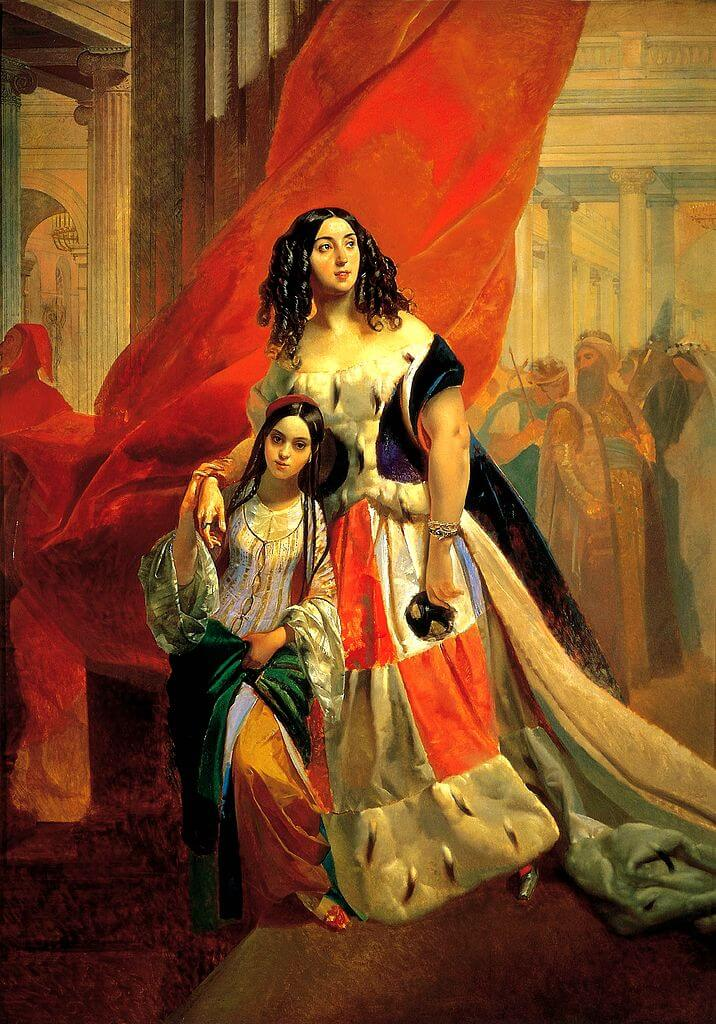 Karl Bryullov. Countess Samoilova, retiring from the ball at the Persian envoy