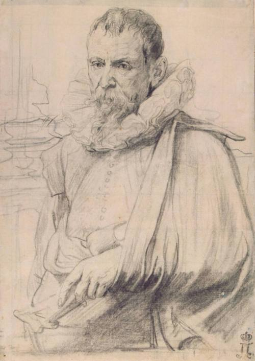 Anthony Van Dyck. Portrait of Pieter Brueghel the Younger. 1632.