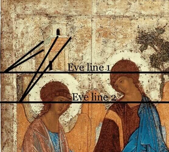 Saint Trinity with eye lines
